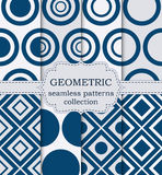 Vector illustration set of seamless geometric patterns Stock Photos