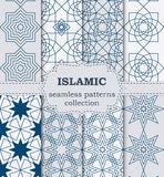 Vector illustration of a set of seamless patterns Islamic Royalty Free Stock Photo