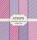 Vector illustration set of seamless patterns strips Royalty Free Stock Photography