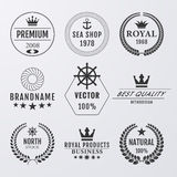 Vector illustration. Set simple logos Royalty Free Stock Image