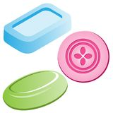 Vector Illustration set of soaps Stock Photo