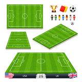 Vector Illustration set of Soccer Fields in Four Royalty Free Stock Image