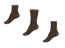 Vector illustration. Set of socks Royalty Free Stock Image
