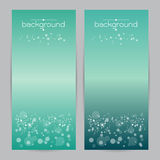 Vector illustration set of soft colored abstract background blue two Royalty Free Stock Image