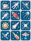 Vector Illustration Set on Space Royalty Free Stock Photography