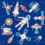 Vector Illustration Set on Space Royalty Free Stock Photo