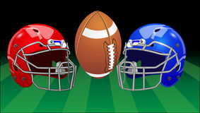 Vector illustration. Set of sport equipment. American football. Stock Photo