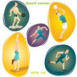 Vector illustration set of sports Stock Photo