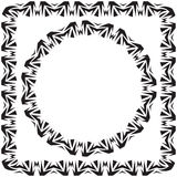 Vector illustration. set. square and round decorated frame Stock Image