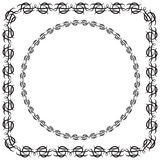 Vector illustration. set. square and round decorated frame Stock Photos