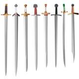 Vector illustration set of swords Royalty Free Stock Photos