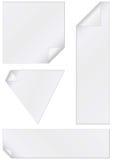 Vector illustration set of unprinted stickers Stock Photos