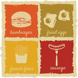 Set of Vintage Food Labels Royalty Free Stock Photo