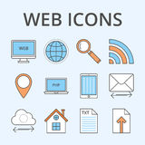 Vector illustration of a set of web icons.  Royalty Free Stock Images
