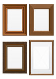Vector illustration set of wooden frames. Illustration set of frames with wood texture. All  objects are isolated and grouped. Colors and transparent background Royalty Free Stock Image