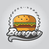 Vector illustration Sets of burger shop icon logo design