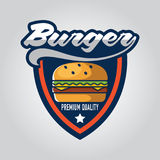Vector illustration Sets of burger shop icon logo design
