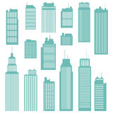Office Buildings. Vector illustration of several kind and sizes of office buildings Stock Images