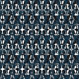 Geometric seamless repeat pattern. Vector illustration stock photo