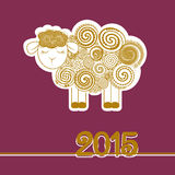 Vector illustration of sheep, symbol of 2015 on the Chinese calendar Stock Image