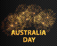Vector Illustration of shiny background with firework celebration for Australia Day. EPS10 Royalty Free Stock Image