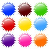 Vector illustration of shiny colorful buttons. Stock Photography