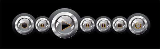 Vector illustration shiny media player navigation stock illustration