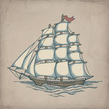 Vector illustration of ship Royalty Free Stock Photography
