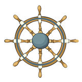Vector illustration of ship steering whee Royalty Free Stock Image