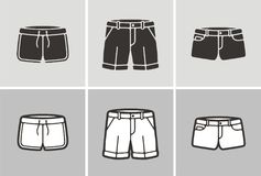 Shorts. Vector illustration of shorts, clothes icon Royalty Free Stock Photos