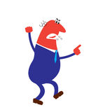 Vector illustration of shouting pointing angry boss Stock Photo
