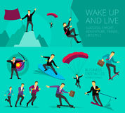Vector illustration show Businessman successful Stock Images