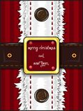 Greetings card merry christmas and happy new year. Vector illustration shows greetings card merry christmas and happy new year. Santa claus clothes Royalty Free Stock Images
