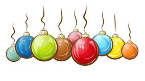 Multicolored christmas balls. Vector illustration shows multicolored christmas balls Royalty Free Stock Images