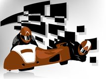 Sidecar racer. Vector illustration of sidecar racer Royalty Free Stock Photo