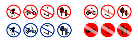 Vector illustration of signs. Stock Photography