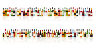 Vector Illustration of Silhouette Alcohol Bottle Royalty Free Stock Photography