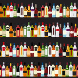 Vector Illustration of Silhouette Alcohol Bottle Royalty Free Stock Photo