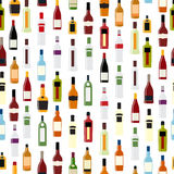 Vector Illustration of Silhouette Alcohol Bottle Stock Photography