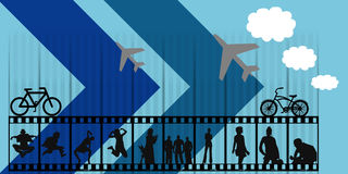 Vector illustration silhouette Stock Image