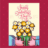 Vector illustration of silhouettes of hands of lovers, Valentine Stock Photography
