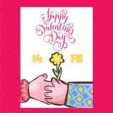 Vector illustration of silhouettes of hands of lovers, Valentine Stock Images