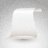 Vector illustration of silver paper scroll Stock Photo