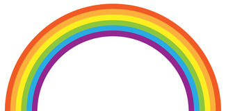 Rainbow. Vector illustration of simple colorful rainbow