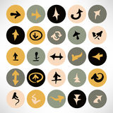 Vector illustration of simple flat round arrow icons Stock Photo