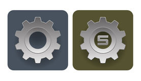 Vector illustration of simple gear icons Stock Photography