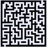 Labyrinth with Entry and Exit. Vector illustration of simple labyrinth with some wrong ways and one exit vector illustration