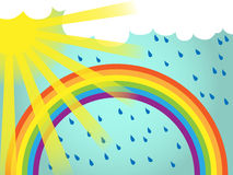 Rainbow background template Royalty Free Stock Image