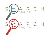 Vector illustration of simple search engine icons Stock Images