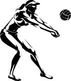Beach Volleyball Player Stock Image